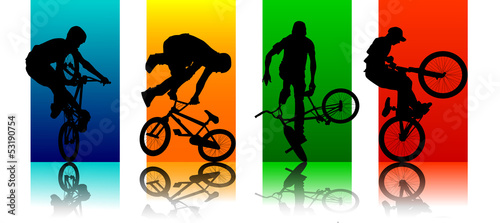 Cuadros en Lienzo Set Figures BMX