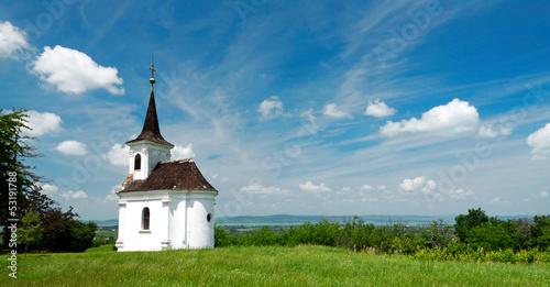Little chapel in Balatonlelle at Lake Balaton, Hungary Fototapeta