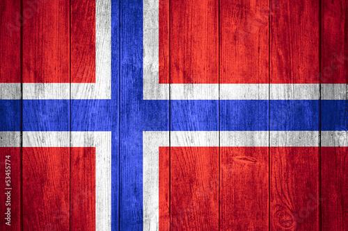 Wallpaper Mural flag of Norway