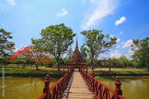 Obraz na płótnie Wat Sra Sri in Sukhothai historical park