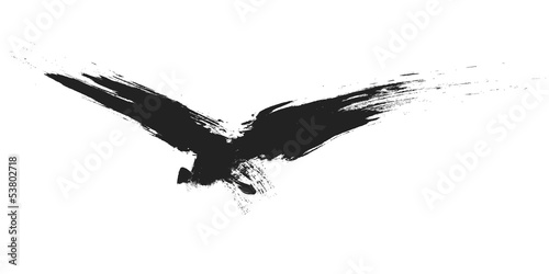 Fototapeta premium ptak grunge