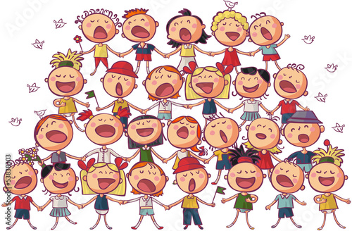 Obraz na płótnie children chorus