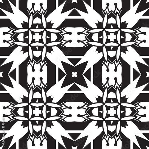 Fototapeta premium Czarno-biały wzór geometryczny bez szwu