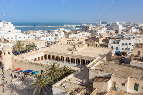 old houses in medina in Sousse, Tunisia