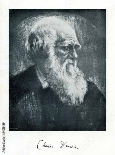 Charles Darwin, English naturalist Fototapet