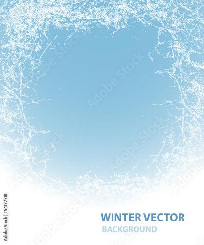 Obraz na płótnie Background  with rime for winter holiday