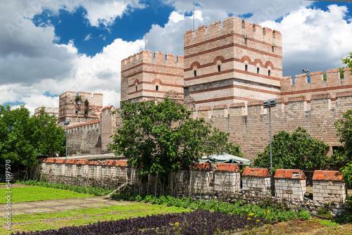 Obraz na płótnie Ancient walls of Constantinople, Istanbul, Turkey