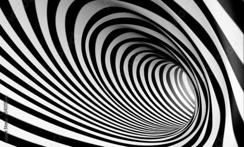 Fototapeta premium Streszczenie tło spirala 3d w czerni i bieli