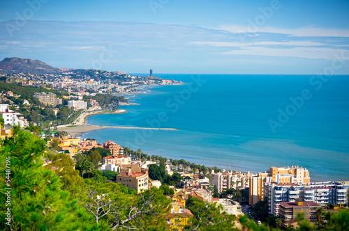 Obraz na płótnie Beautiful view of Malaga city, Spain