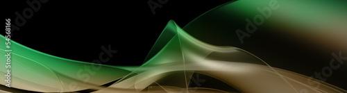 Naklejka na szafę zielona panorama abstrakcji