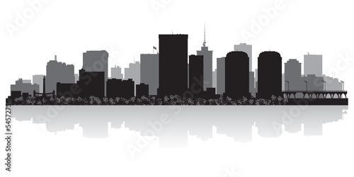 Fotografia Richmond city skyline silhouette