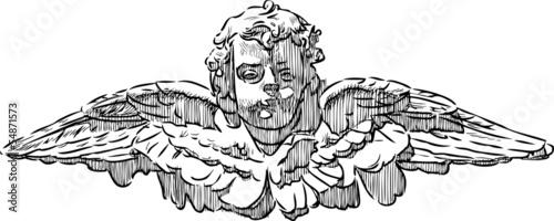 Fotografia head of an angel