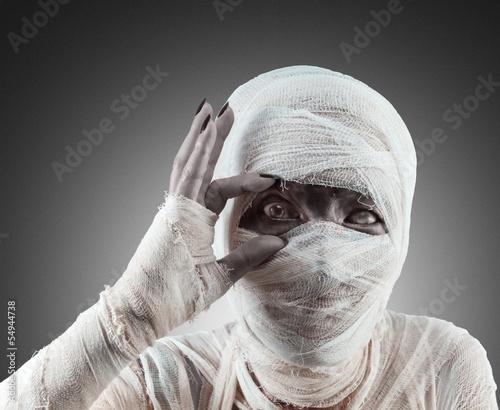 Fotografie, Tablou Heloween mummy looks at you