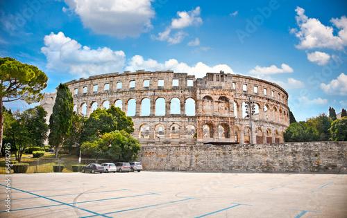 Roman amphitheatre (Arena) in Pula, Croatia. Fototapeta
