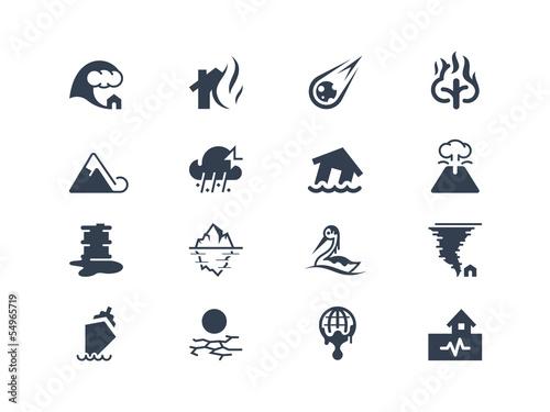 Natural disaster icons Fototapet