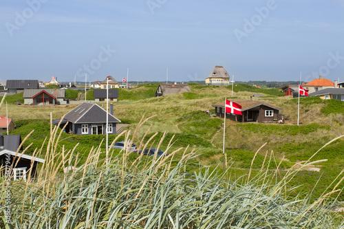 Wallpaper Mural Summer houses at the North Sea