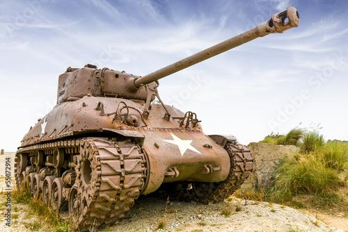 Canvas Print sherman tank