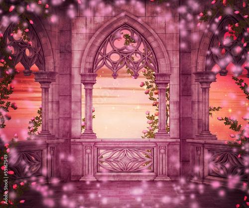 Fototapeta premium Tło Fantasy Castle Princess