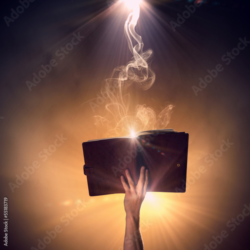 Fotografie, Tablou Hand with book