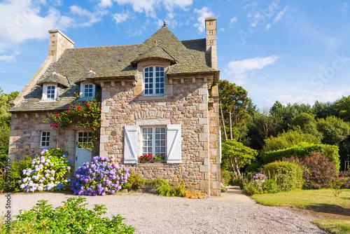 Typowy dom francuskiej Bretanii
