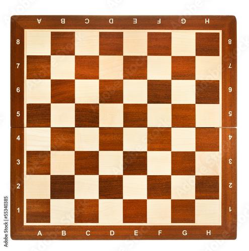 Fotografie, Tablou top view of wooden chessboard
