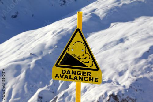 Avalanche sign Fototapete