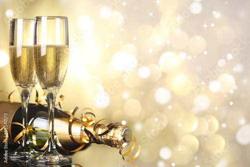 Celebration with champagne Fototapeta