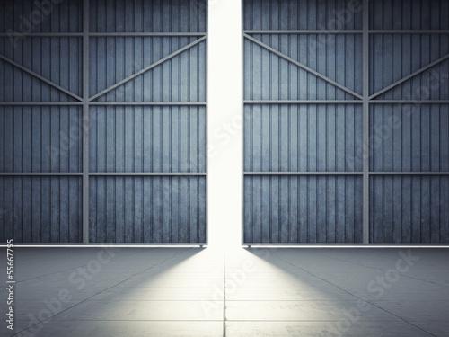 Fotografia Light from hangar doors
