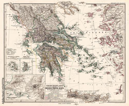Photo Greece vintage map