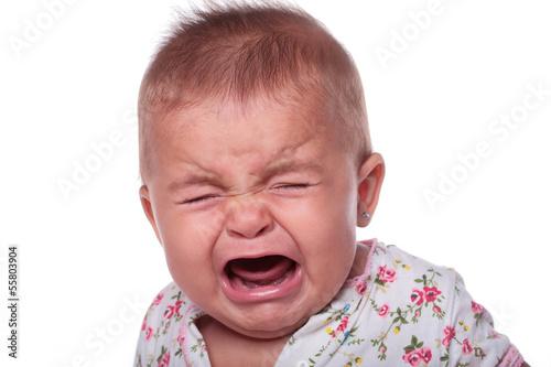 Leinwand Poster Baby weinen