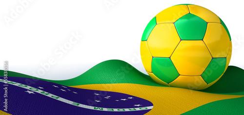 Brazilian Flag And Soccer Ball