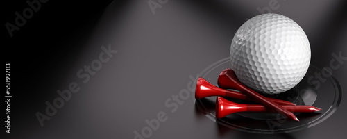 Tablou Canvas Golf Ball and Tee