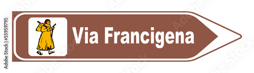 Tableau sur Toile Via Francigena