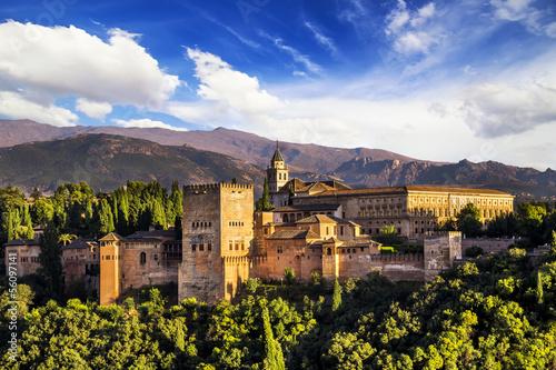 Ancient arabic fortress of Alhambra, Granada, Spain.