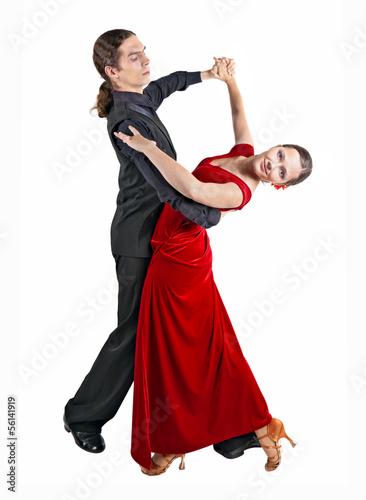Young couple dancint waltz Fototapeta
