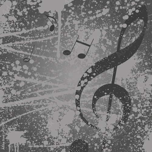 Fototapeta premium Muzyka w tle zauważa klucz wiolinowy