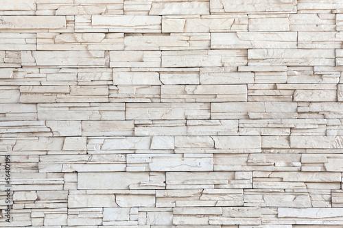 White Stone Tile Texture Brick Wall