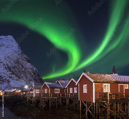 Carta da parati Nordlicht in Reine Lofoten Norwegen