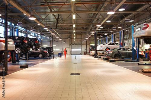 Fotografie, Tablou repair garage