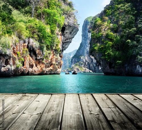 rocks on railay beach in Krabi, Thailand #56590518