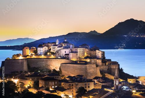 Canvas Print Ville de Calvi Corse Citadelle