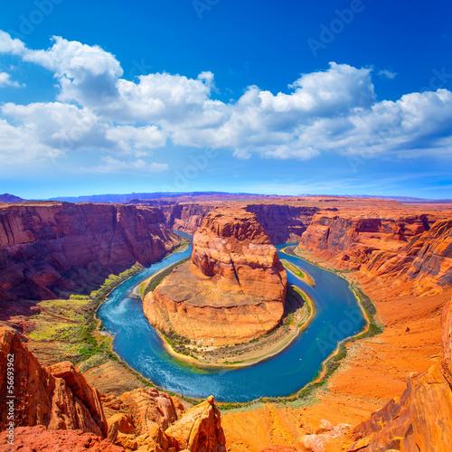 Slika na platnu Arizona Horseshoe Bend meander of Colorado River