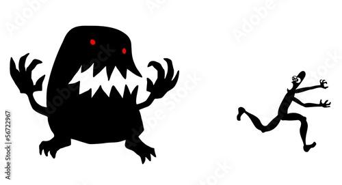 Canvas Print Monster running