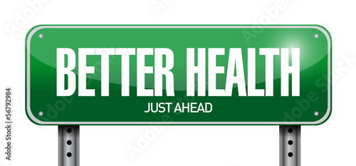 Cuadros en Lienzo better health road sign illustration design