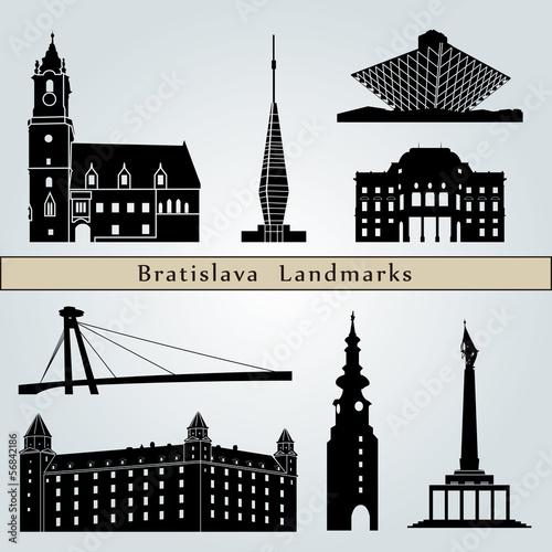 Wallpaper Mural Bratislava landmarks and monuments