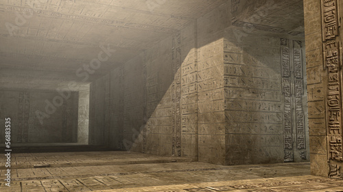 Futuristic pyramid interior #56883535