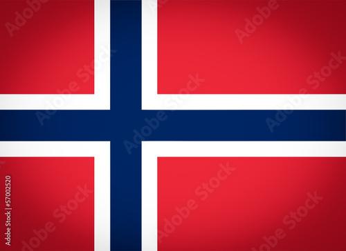 Wallpaper Mural Flag of Norway vignetted