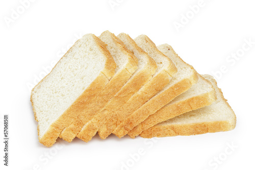 seven slices  of toast bread Fotobehang