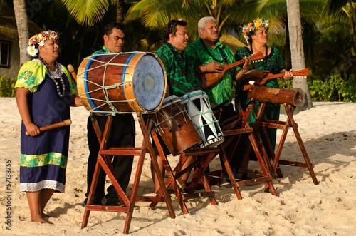 Fotografia Polynesian Pacific Island Tahitian Music Group