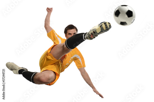 Stampa su Tela Soccer Player in Action